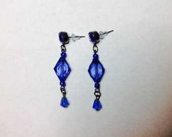 Clip On Blue Earring