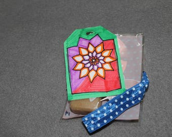 Gift tag, gift set, flower, sunflower, party favor