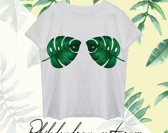 T-shirt Nature Collection/Philadendran pertusum
