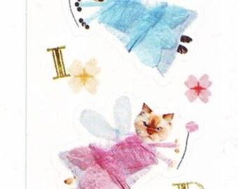Hallmark Flying Cat Fairy Stickers Sheet