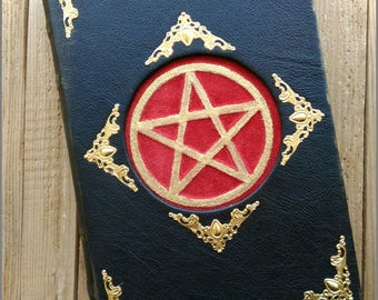 Leather grimoire handmade with a secret