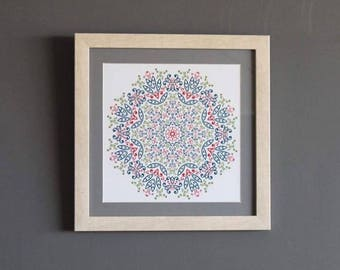 Decorative framed mandalas of quality pictures
