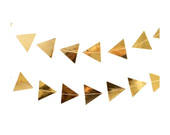 Gold Triangle Party Banner, Gold Foil Banner, Gold Party Banner, Gold Party Decor, Gold Theme Party, Gold Party Garland, Gold Bridal Shower