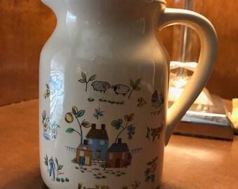Vintage Goodwood International Heartland Ceramic Pitcher