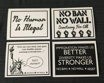Resistance Postcards - Immigration Pack - Simplicity Collection B&W
