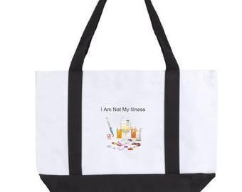 I Am Not My Illness Large Tote