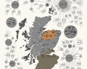 Map of Scottish Distilleries