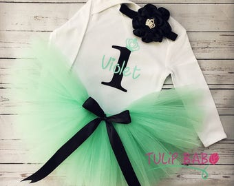 Birthday Tutu Outfit, Cute Tutu, first birthday, Mint Tutu