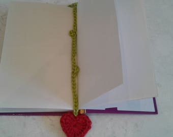 2 Sprouting Heart Bookmarks