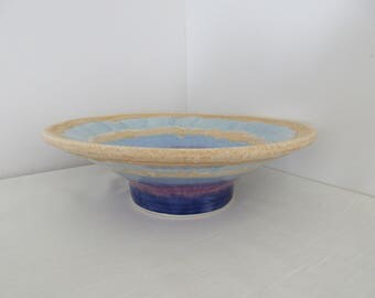 FREE SHIPPING Hand Thrown Flared Bowl Mutli Glaze