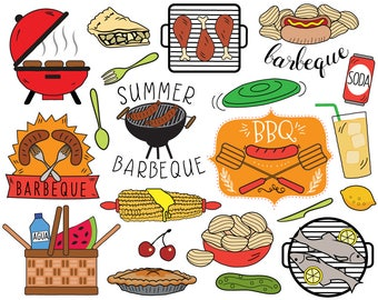 BBQ Clipart Summer Barbecue Picnic Clip Art Bbq Invitation Cooking