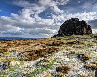 Fine Art or Canvas Print - Haytor Rocks, Dartmoor