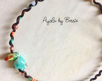 Tropical Toucan Beaded Choker