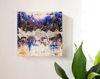 Abstract Painting Acrylic Original, Night Scape