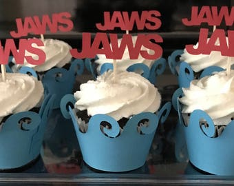 JAWS cupcake toppers