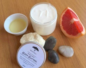 Refreshing Grapefruit & Marula Oil Whipped Body Butter // 100% Organic // Sweet and Tangy