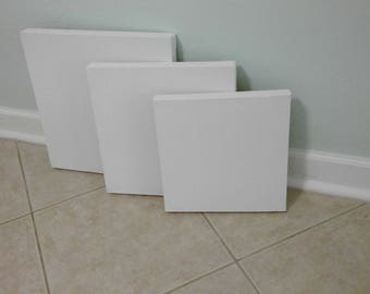Three piece hand stretched duck canvas