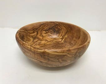 Large Olive Wood Salad Bowl (10in)