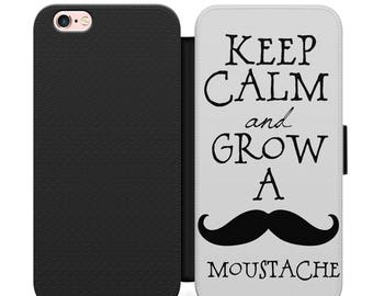 Iphone cover case 4, 5, 6, 7 003 edges black Moustache