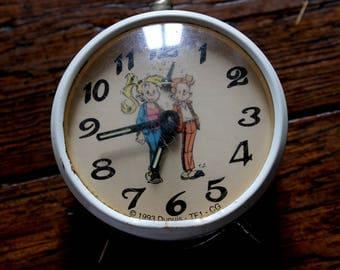 Mechanical alarm clock vintage retro Spirou 1993