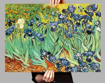 Poster 50x70 cm Irises - Vincent van Gogh Digital