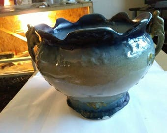 Large Vintage Fish Handled Jardiniere