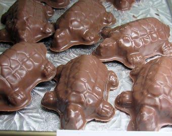 Chocolate Pecan Caramel Turtles  Milk /Dark 6 count