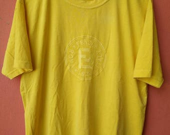 Vintage Yellow FENDI T Shirt Rare