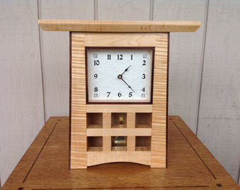 Curly Maple Mantle Clock