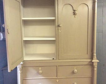 antique housekeepers cupboard