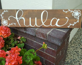 Custom Hand-Painted Wood Sign - Pet Name