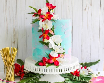 Tropical Floral Topper- Cake topper, prop cake, party decor