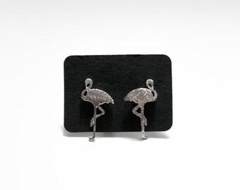 Flamingo stud earrings