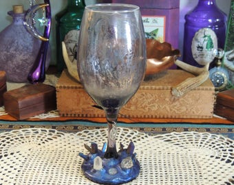 Decorative glass votive holder