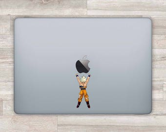 Anime MacBook Decal Goku MacBook Sticker MacBook Air MacBook Pro Retina Apple Logo Laptop Decal Laptop Sticker Spirit Bomb Vinyl cmac093