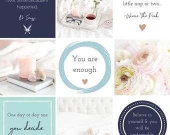 Ready made Social Media Graphics - Text Graphics for Instagram - Blue Branding - Instagram Template - Business Branding - Instagram Caption