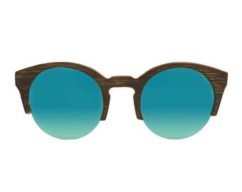 "Wooden sunglasses | Wayfarer sunglasses | Model ""NOVALJA"" bamboo | UV400 category 3 standards drinks"