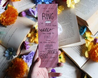 The one ring Lord of the rings Bookmark