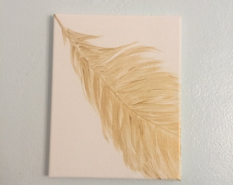 Light as a feather acrylic painting