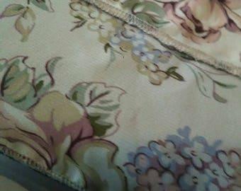 M Rolled Hem Floral Scarf