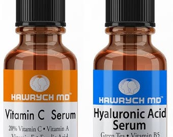Hawrych MD 20% Vitamin C Serum Hyaluronic Acid Serum Set