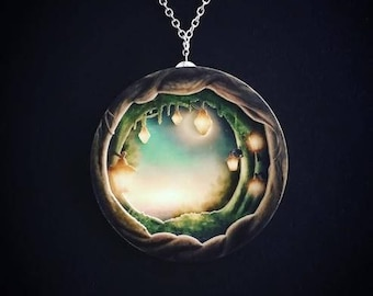 Layered Diorama Necklace -,Tír na nÓg