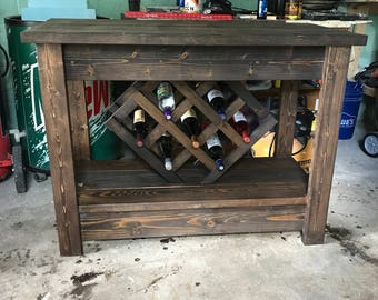 wine rack table - Wine Rack Table