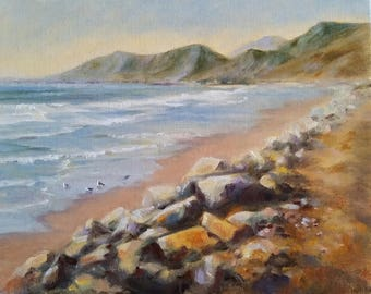 Original Fine Art Oil Painting Pacific Coast Seascape