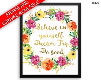 Believe Prints  Believe Canvas Wall Art Believe Framed Print Believe Wall Art Canvas Believe Optimism Art Believe Optimism Print Believe