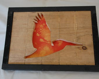 Sea Gull Framed Cutout Wall Art