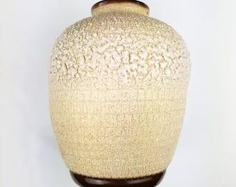 Vase ball enamelled stoneware way shell awarded has Louis Dage era Art Deco