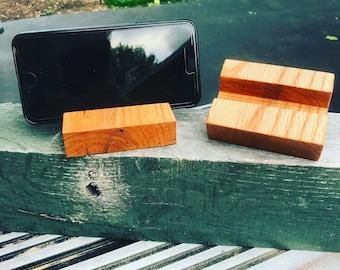 Reclaimed Oak Phone Stand