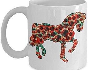 Horse Lover Mug, Pink Neon Horse, Horse Lover Gift, Horse Mug, Horse Coffee Mug, Horse gift