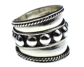 Bali Wide Band Sterling Silver Ring